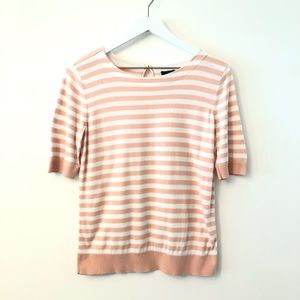 2FOR15🌴Talbots Striped Short Sleeve Sweater Med
